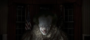 President Donald Trump Photoshopped to Look Like the Clown From the IT Movie