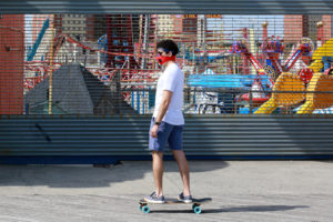 Street photography by Anthony Clune in Coney Island Brooklyn during quarantine